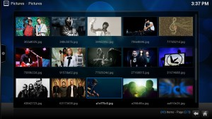 You can see and images using KODI