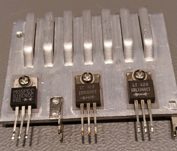 diodes on a heatsink  DIY Switch-mode Constant Current Supply